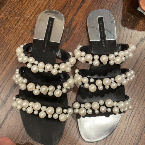 Zara pearl sandals size 37